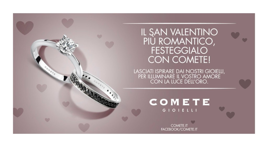 Fai un San Valentino con Comete gioielli