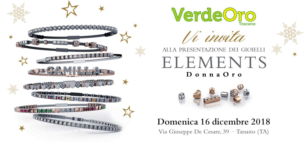 Giornata Elements DonnaOro 2018